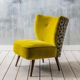 Graham and Green Alpana Yellow Velvet Chair