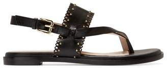 Cole Haan Anica Lasercut Stud Leather Slingback Sandals