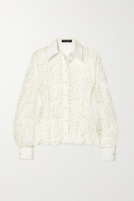 Dolce & Gabbana Corded Lace Blouse - White