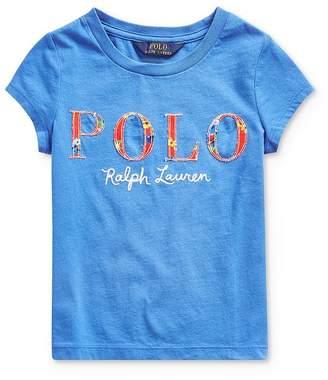 Ralph Lauren Girls' Appliquéd Logo Tee - Little Kid