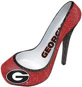 Evergreen Georgia Bulldogs Glitter Shoe Bottle Holder