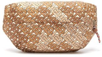 Burberry Monogram Print Canvas Belt Bag - Mens - Brown Multi