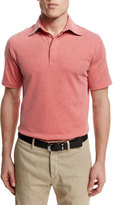 Ermenegildo Zegna Stretch-Knit Short-Sleeve Polo Shirt, Red