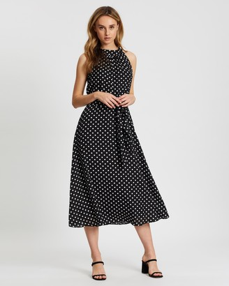 Wallis Spot Fit-and-Flare Dress