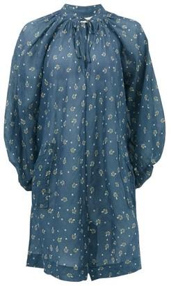 Innika Choo Bessie May T. Floral-print Cotton Mini Dress - Blue Print