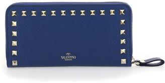 Valentino Rockstud Zip Around Wallet