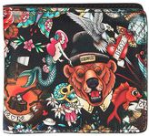 DSQUARED2 Tattoo Printed Leather Classic Wallet