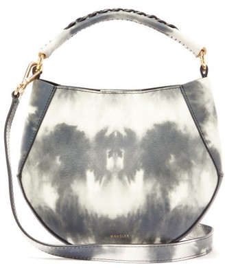 Wandler Corsa Mini Tie-dye Leather Tote Bag - Womens - Grey White