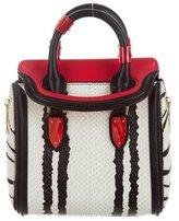 Alexander McQueen Mini Ponyhair & Snakeskin Heroine Bag