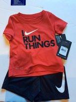 Nike Infant Boys I Run ThingsTwo Piece Tee Shirt and Shorts Set