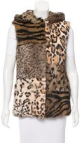Jocelyn Fur Animal Print Vest