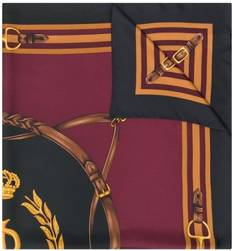 Lauren Ralph Lauren Sandra Equestrian-print silk scarf