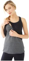 Belabumbum Layered Cami - Black/Grey Stripe - Extra Large