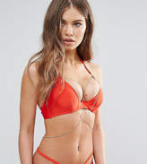 Wolfwhistle Wolf & Whistle Plunge Bikini Top With Exposed Cradle & Chain Dd-G Cup