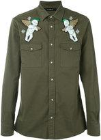 John Richmond Matuisa embroidered shirt - men - Cotton/Spandex/Elastane - S