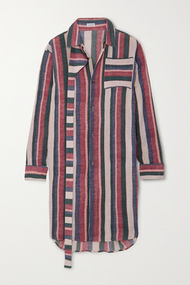 Loewe Oversized Striped Cotton Shirt - Pink