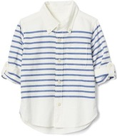 Gap Stripe oxford convertible shirt