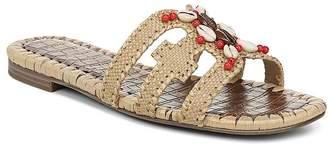 Sam Edelman Women's Bradie Beaded Raffia Slide Sandals