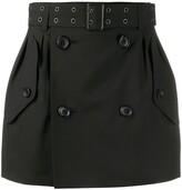 Junya Watanabe pin stripe eyelet belt skirt