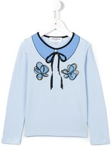 Simonetta printed collar T-shirt