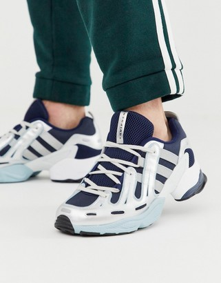 adidas EQT gazelle trainers in navy and white-Multi