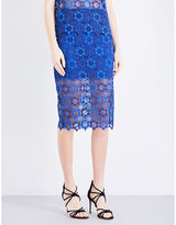 Sandro Lagon Floral-lace Skirt