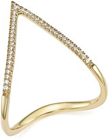 Bloomingdale's Diamond Pave Chevron Ring in 14K Yellow Gold, .15 ct. t.w. - 100% Exclusive