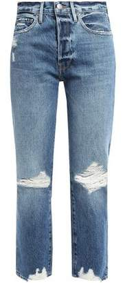 Frame Distressed Boyfriend Jeans