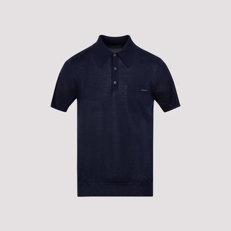 Prada Logo Embroidered Polo Shirt