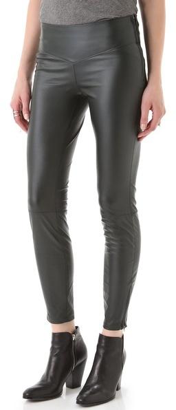 Blank Faux Leather Leggings