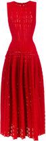 Alaia flared midi dress