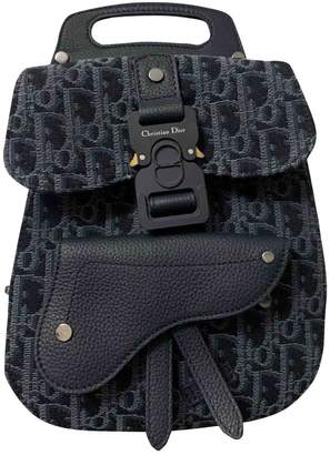 Christian Dior Saddle Blue Cloth Bags