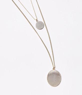 LOFT Disc Layered Pendant Necklace