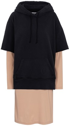 MM6 MAISON MARGIELA Hooded cotton jersey midi dress