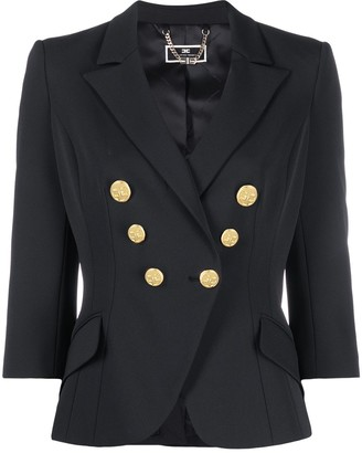 Elisabetta Franchi Fitted Double-Breasted Blazer