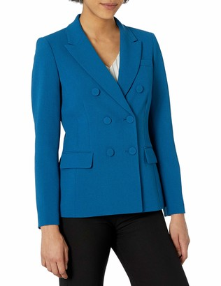 Tahari ASL Women's Double Breasted Jacket with Flap Pockets