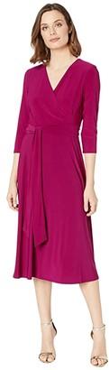 Lauren Ralph Lauren Carlyna 3/4 Sleeve Day Dress (Regal Sapphire) Women's Dress