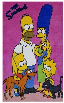 Fun Rugs The Simpsons Hand-Knotted Cotton Pink Area Rug