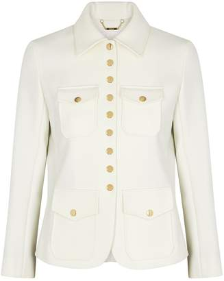 Chloé Ivory Stretch-twill Jacket
