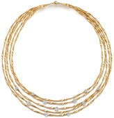 "Marco Bicego 18K Yellow Gold Marrakech Couture Coiled Five Strand Necklace with Diamonds, 16.5"" - Trunk Show Exclusive"