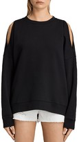 AllSaints Unai Cold-Shoulder Sweatshirt