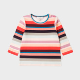 Paul Smith Baby Girls' 'Sunray Stripe' Cotton T-Shirt