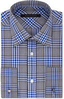 Sean John Classic/Regular Fit Men's Classic-Fit Blue Plaid Dress Shirt