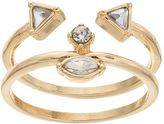 Juicy Couture Geometric Open Ring Set
