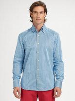Saks Fifth Avenue Black Label Sateen Bengal Stripe Shirt