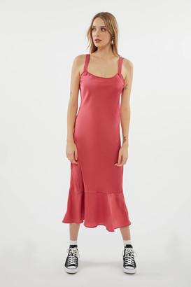 Urban Outfitters Andorra Ruffle Hem Slip Dress