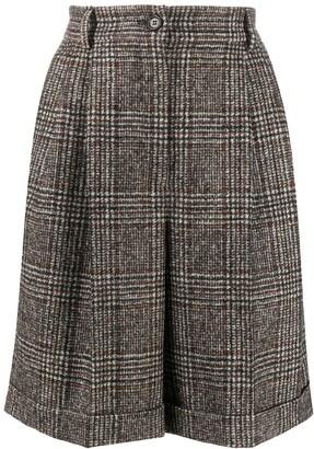 Dolce & Gabbana Glen plaid turn-up shorts