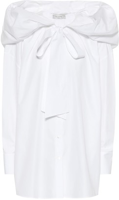 Valentino Hooded cotton poplin shirt