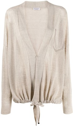 Brunello Cucinelli Oversized Drawstring Cardigan
