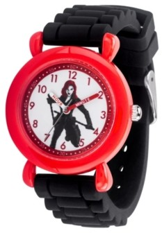 EWatchFactory Marvel Black Widow Girls' Red Plastic Watch 32mm